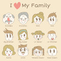 Family members icon set illustration of Royalty Free Stock Photography