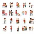 Family members icon set vector design Royalty Free Stock Photo
