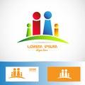 Family members logo Royalty Free Stock Photo