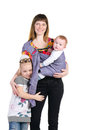 Family, mother and baby in a sling Royalty Free Stock Images