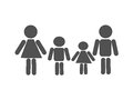 Family is a mother father and two children drawn men raster illustration Royalty Free Stock Photography