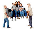 Family moving Royalty Free Stock Photos