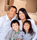 Family moving house Royalty Free Stock Photography