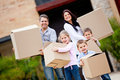 Family moving house Royalty Free Stock Photo