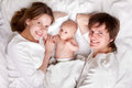 Family with newborn baby Royalty Free Stock Image