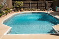 Family outdoor swimming pool ready for fun Royalty Free Stock Photo