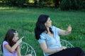 Family park Arkivfoton