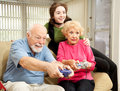 Family Plays Video Games Royalty Free Stock Photo