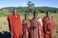 Group portrait of Maasai extended Family