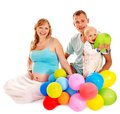 Family with pregnant woman and child. Royalty Free Stock Photos