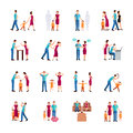 Family Problems Icons Royalty Free Stock Photo
