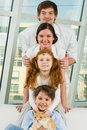 Family pyramid Stock Images