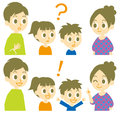 Family, question and answer Royalty Free Stock Photo