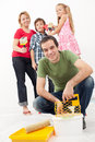 Family redecorating Stock Photo