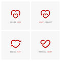 Family and relationships - love logo set