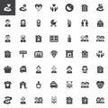 Family relatives vector icons set Royalty Free Stock Photo