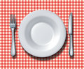 Family Restaurant Place Setting Royalty Free Stock Photo