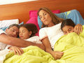 Family resting. Royalty Free Stock Photo