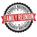 Family reunion sign or stamp Royalty Free Stock Photo