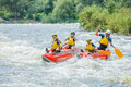 Family River Rafting Royalty Free Stock Photo