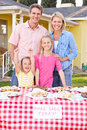Family Running Charity Bake Sale Royalty Free Stock Photography