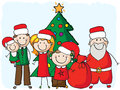 Family with santa Royalty Free Stock Images