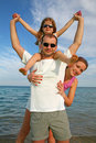 Family at the sea Stock Photography