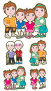 Family Set_eps Royalty Free Stock Images