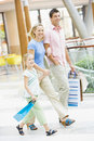 Family shopping in mall Royalty Free Stock Photo