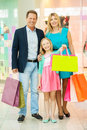 Family in shopping mall. Royalty Free Stock Photo