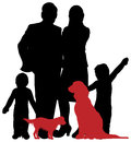 A family silhouette Stock Photo