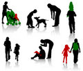 Family silhouettte Royalty Free Stock Images