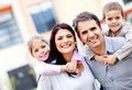 Family smiling Royalty Free Stock Photo