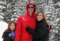 Family in the Snow Royalty Free Stock Photos