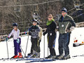 Family Snow Skiers Stock Image