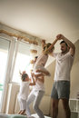 Family spending free time at home. Royalty Free Stock Photo