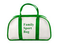 Family sport bag isolated on white background Stock Photos