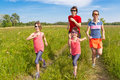 Family sport, jogging outdoors Stock Photography