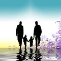 Family strolling together Royalty Free Stock Images