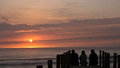 Family sunset a friendly enjoying a sensational sunsets Royalty Free Stock Images