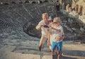 Family take vacation selfie photo Royalty Free Stock Photo