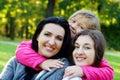 Family taking healthy stroll Royalty Free Stock Photos