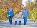 Family Taking a Walk Royalty Free Stock Image