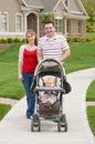 Family Taking a Walk Royalty Free Stock Photo