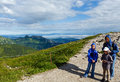 Family tatra mountain poland view kasprowy wierch mount Royalty Free Stock Photography