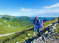 Family tatra mountain poland view kasprowy wierch mount Stock Image
