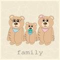 Family of three bears Royalty Free Stock Photo