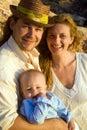 Family of three portrait Royalty Free Stock Photos