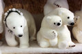 Family of toy polar bears Royalty Free Stock Photo