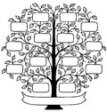 Family Tree/eps Royalty Free Stock Photo